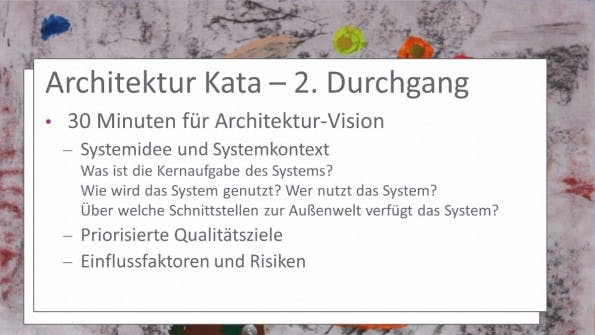 Ist keine komplette Neuentwicklung möglich, bietet sich ein Architektur-Kata an. (Grafik: Roland Mast)