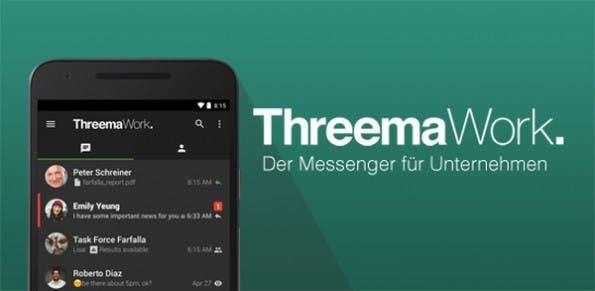 Threema Work soll Unternehmen eine sichere Möglichkeit zur Kommunikation bieten. (Grafik: Threema)