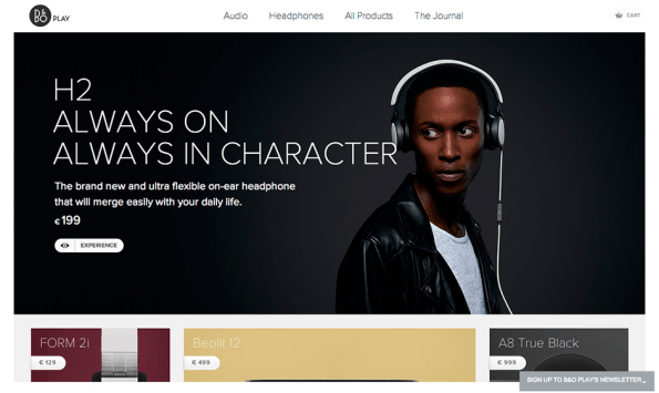 Screenshot: Beoplay via awwwards