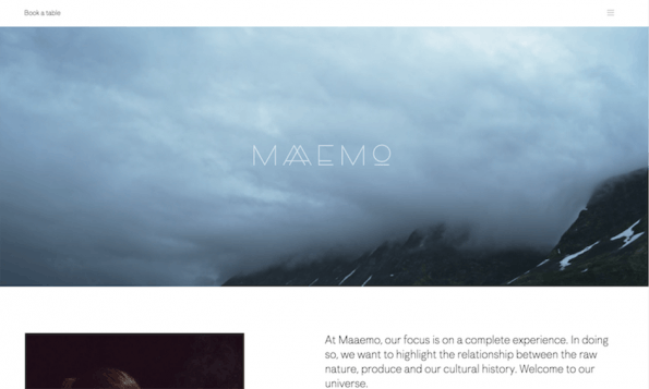Screenshot: Maaemo