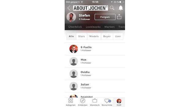 (Screenshot: About-You-App)