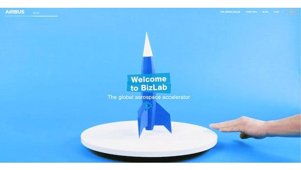 """Im Accelerator <a href=""""https://airbus-bizlab.com/"""">Airbus Bizlab</a> dreht sich vieles, aber nicht alles um die Luftfahrt. (Screenshot: Airbus Bizlab)"""
