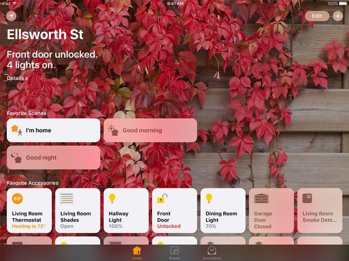 Apple Home: Die neue App ist ein Frontend zur Steuerung von HomeKit-Komponenten. (Bild: Apple.com)