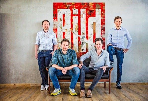 Das Social-Media-Team der Bild (v.l.): Nico Meibohm, Malte Gösche, Jakob Wais und Andreas Rickmann. (Foto: Christian Langbehn / Bild)