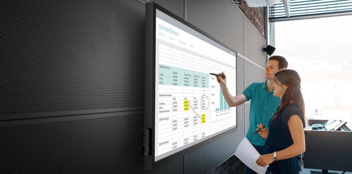 Dell bringt interaktives 70-Zoll-Display für den Konferenzraum