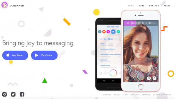 Die Erfolgs-App Dubsmash hat nun auch eine Video-Chat-Funktion. (Screenshot: Dubsmash)