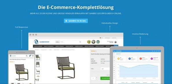 Gambio GX3: E-Commerce-Software für Online-Shopbetreiber in neuem Gewand. (Screenshot: gambio.de)