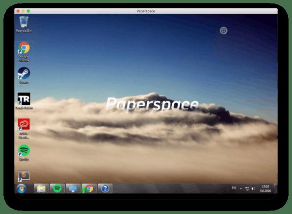 Paperspace: Ein vollwertiger Windows-Desktop-Rechner in der Cloud. (Screenshot: t3n)