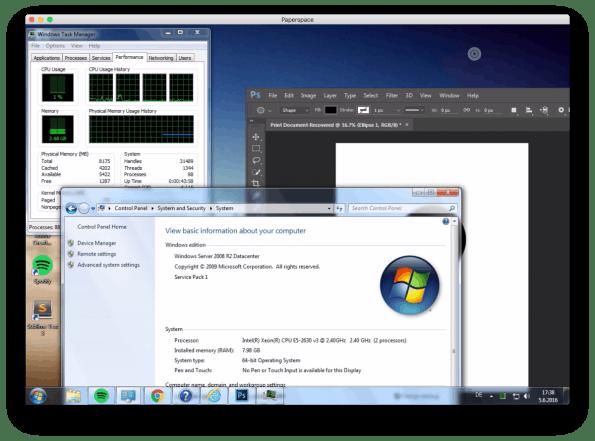 Die Paperspace-Server sind extrem leistungsfähig.(Screenshot: t3n)