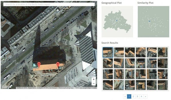Satellitenbilder-Suchmaschine Terrapattern sucht nach Kirchen in Berlin. (Screenshot: Terrapattern/t3n.de)