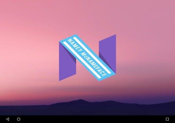 """Android 7 wird mit Sicherheit nicht """"Namey McNameface"""" heißen. (Bild: Google)"""
