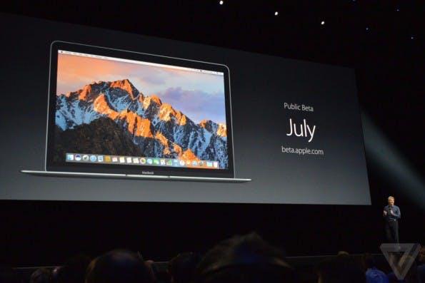 macOS Sierra kommt schon in Kürze – aber erst als öffentliche Beta. (Foto: The Verge)