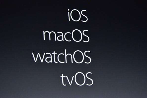Aus OS X 10.12 wird macOS Sierra. (Foto: The Verge)