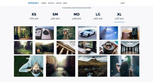 Dier visuelle Guide zeigt euch die wichtigsten Neuerungen in Bootstrap 4. (Screenshot: bootstrap4.guide)