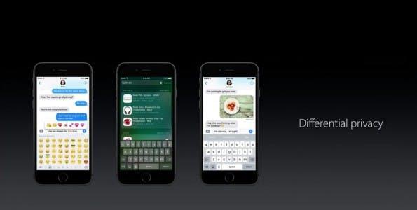 """Auch auf der WWDC-2016-Keynote spielte """"Differential Privacy"""" eine Rolle. (Bild: Apple)"""