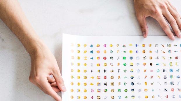Emoji-Poster: Die neue Weltsprache auf einem Plakat