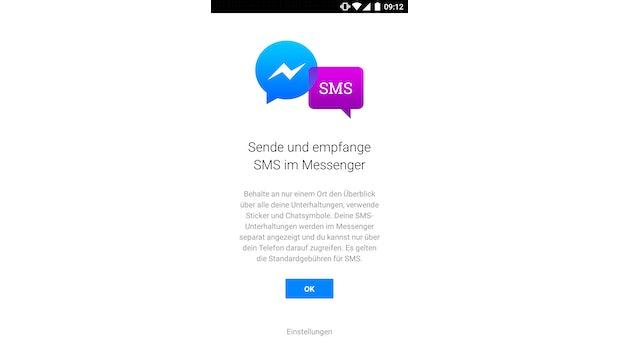 Nach dem Update des Facebook-Messengers wird euch dieser Infoscreen angezeigt. (Screenshot: t3n)