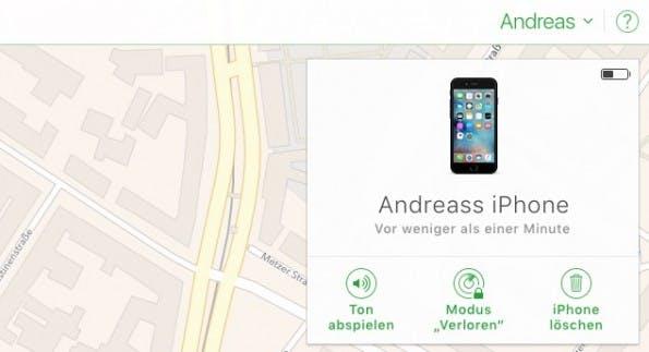 Find my iPhone behält eure Geräte im Auge. Bei Bedarf könnt ihr euer iPhone auch löschen oder sperren. (Bild t3n)