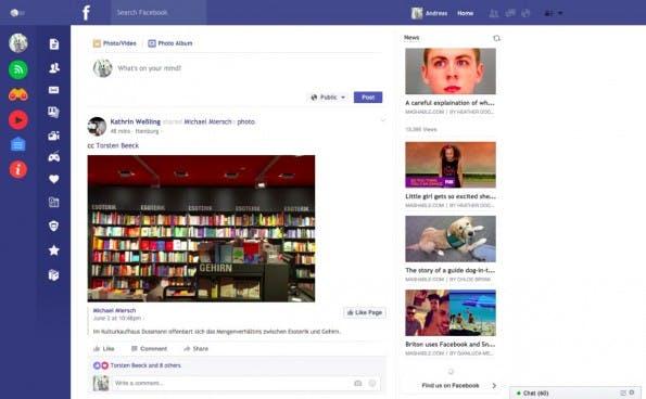 Flatbook for Chrome räumt das Facebook-Design ordentlich auf. (Screenshot: t3n.de)