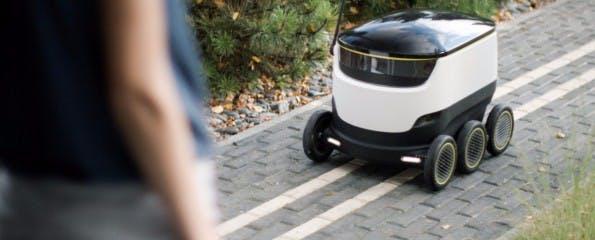 Der Roboter des Startups Starship soll bald Pakete für Hermes ausliefern. (Foto: Starship)