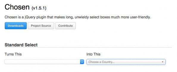 Chosen lässt dich deine Dropdowns durchsuchen. (Screenshot: Chosen)
