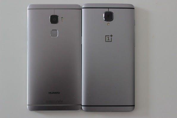 Könnten fast vom gleichen Band gelaufen sein: das Huawei Mate S und das Oneplus 3. (Foto: t3n)