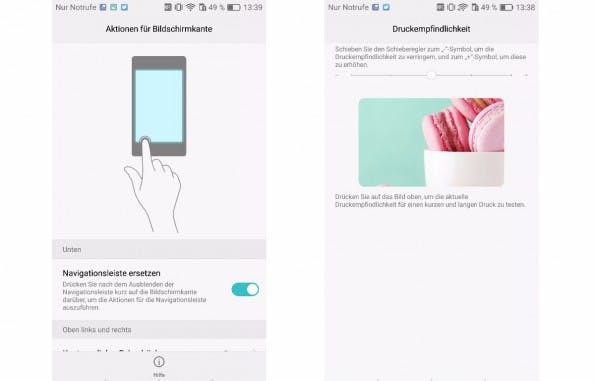 Die Press-Touch-Funktion ist auf wenige Apps beschränkt. (Screenshots: t3n)