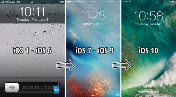 Slide-to-Unlock ist nicht mehr. Unter iOS 10 müsst ihr zum Entsperren auf den Homebutton drücken. (Bild: PhoneArena)