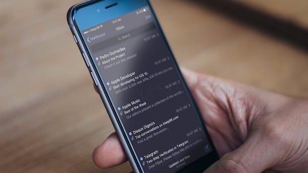 iOS-10-Konzept zeigt dunkles iPhone-Theme und Split-Screen-Modus