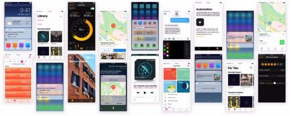 Das quelloffene UI-Kit für iOS 10 enthält alle wichtigen Elemente. (Grafik: puzzles.design)