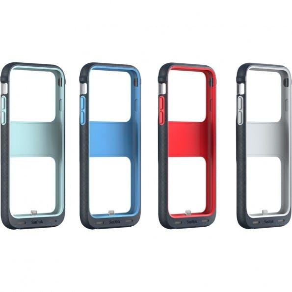 Sandisk iXPand Memory Case für das iPhone 6(s) – alle Farben. (Bild: )