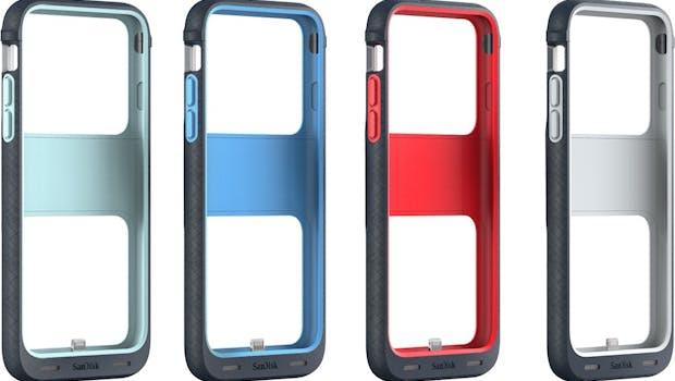 Sandisk iXPand Memory Case für das iPhone 6(s)  – alle Farben. (Bild: Sandisk )