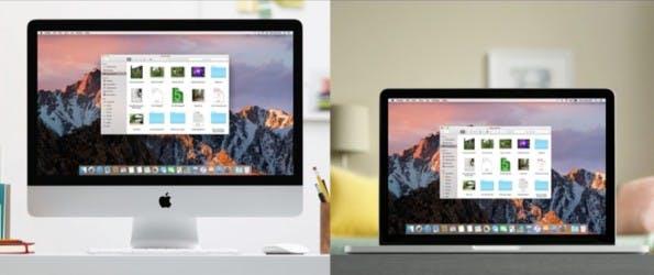 Eine Desktop-Ansicht auf allen Rechnern. (Bild: Apple)