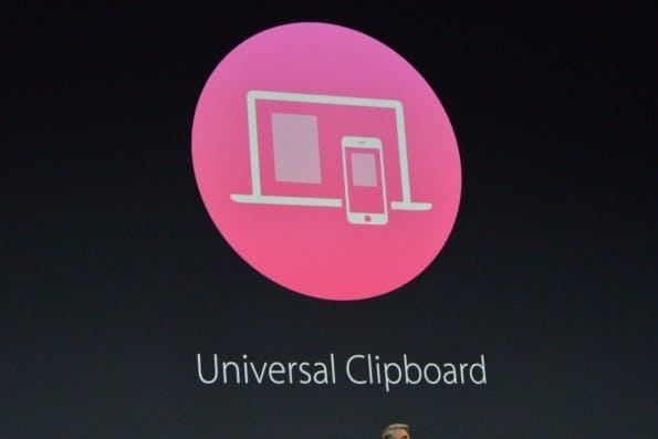 Mit Universal Clipboard könnt ihr Texte und Links ohne großen Aufwand zwischen Desktop und iOS übertragen. (Bild: Apple)