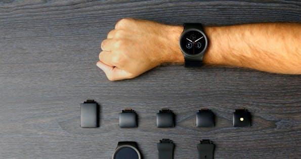 Blocks: Die modulare Smartwatch lässt sich um verschiedene Module erweitern. (Foto: Blocks)