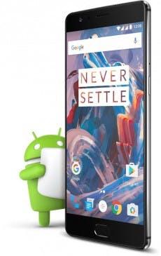 Das OP3 wird ab Werk mit Android 6.0.1 Marshmallow ausgeliefert. (Bild: OnePlus)
