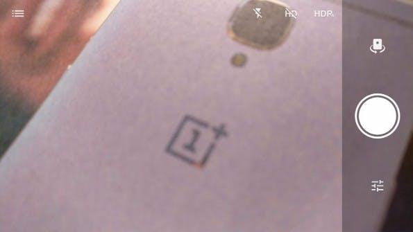 Die Standard-Ansicht der Oneplus-3-Kamera-App ist reduziert gehalten. (Bild: t3n)