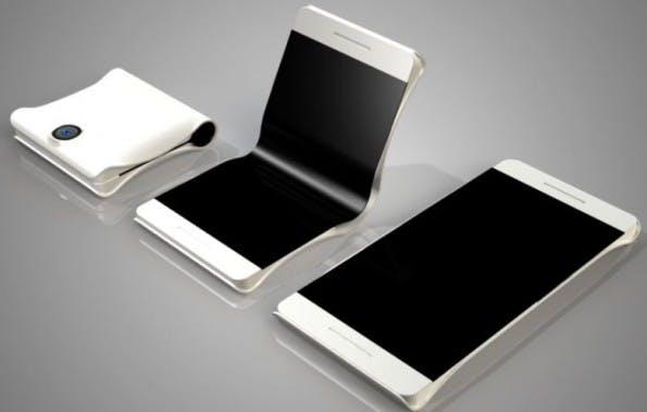 Galaxy X: So könnte ein Smartphone mit faltbarem aussehen. (Bild: PhoneArena)