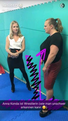 Snapchat-Reportage: Bild besucht die Wrestlerin Anna Konda. (Screenshot: t3n.de)
