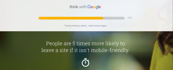 (Screenshot: testmysite.thinkwithgoogle.com)