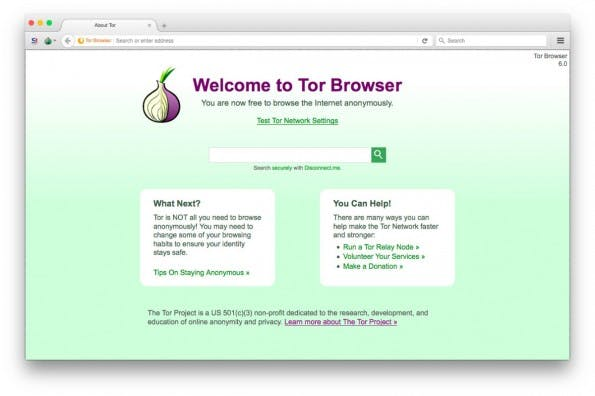 Der Tor Browser steht in Version 6.0 zum Download bereit. (Screenshot: Tor Browser 6.0)