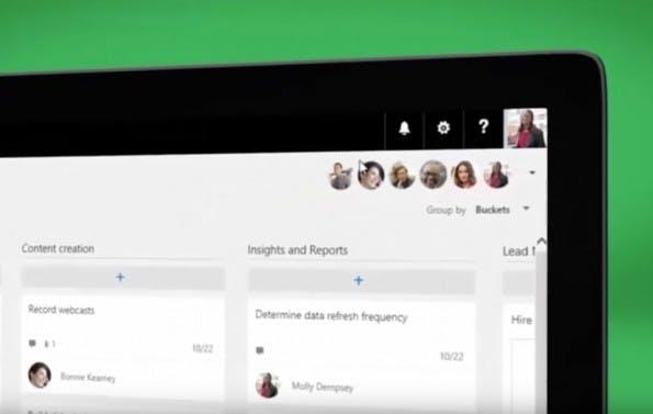 Die Aufmachung und Funktionsweise von Planner erinnert ein wenig an Trello. (Screenshot: Microsoft)