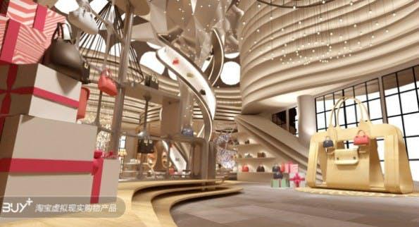 Virtueller Shopping-Bummel im VR-Shop Buy+ von Alibaba. (Bild: Alizila)