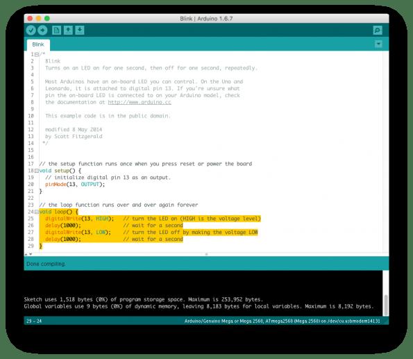 Die Entwicklungsumgebung für Arduino ist sehr einsteigerfreundlich. (Screenshot: t3n)