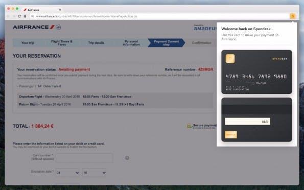 Für Online-Ausgaben generiert Spendesk virtuelle Kreditkarten für eure Mitarbeiter. (Screenshot: Spendesk)