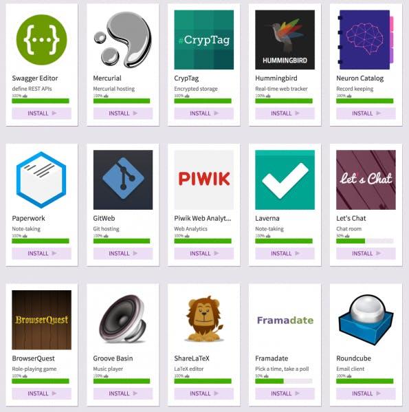 Der App-Store von Sandstorm umfasst inzwischen mehr als 50 Indie-Web-Apps. (Screenshot: t3n)