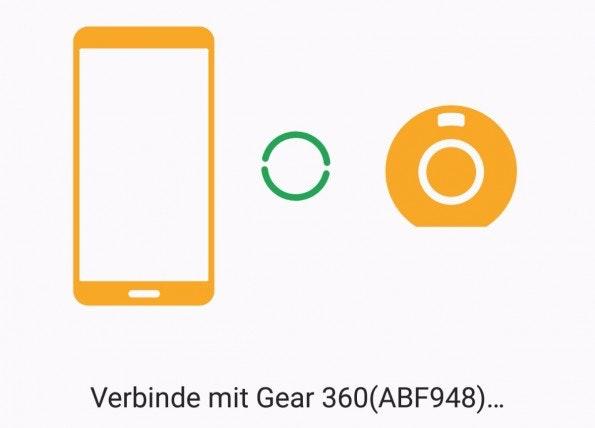 Mit dem Gear-360-Manager könnt ihr die Kamera per Smartphone steuern und Inhalte verwalten. (Screenshot: t3n)