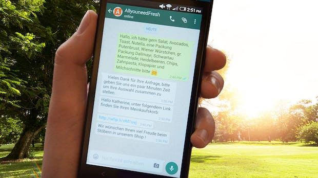 Online-Supermarkt lässt dich per Whatsapp einkaufen