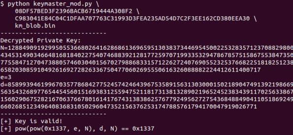 Der Entdecker hat ein Python-Tool für Bruteforce-Angriffe auf den extrahierten Schlüssel bereitgestellt. (Quelle: bits-please.blogspot.de)