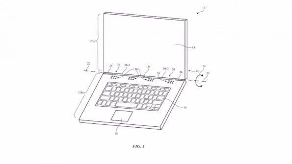 Ein neues Patent beschreibt die Integration einer Mobilfunkantenne in ein Macbook. (Bild: USPTO)